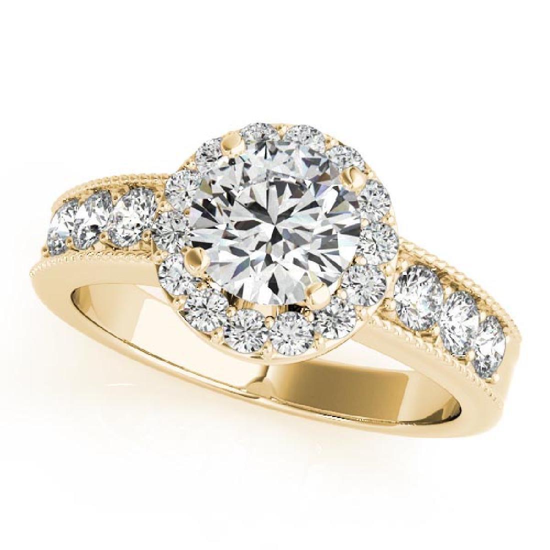 CERTIFIED 18K YELLOW GOLD 1.70 CT G-H/VS-SI1 DIAMOND HA