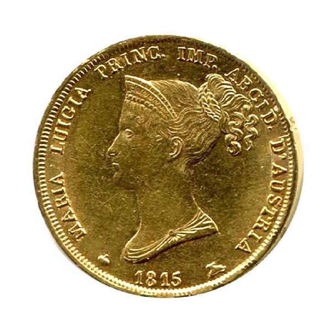 Italy Parma 40 Lire Gold 1815 XF-AU
