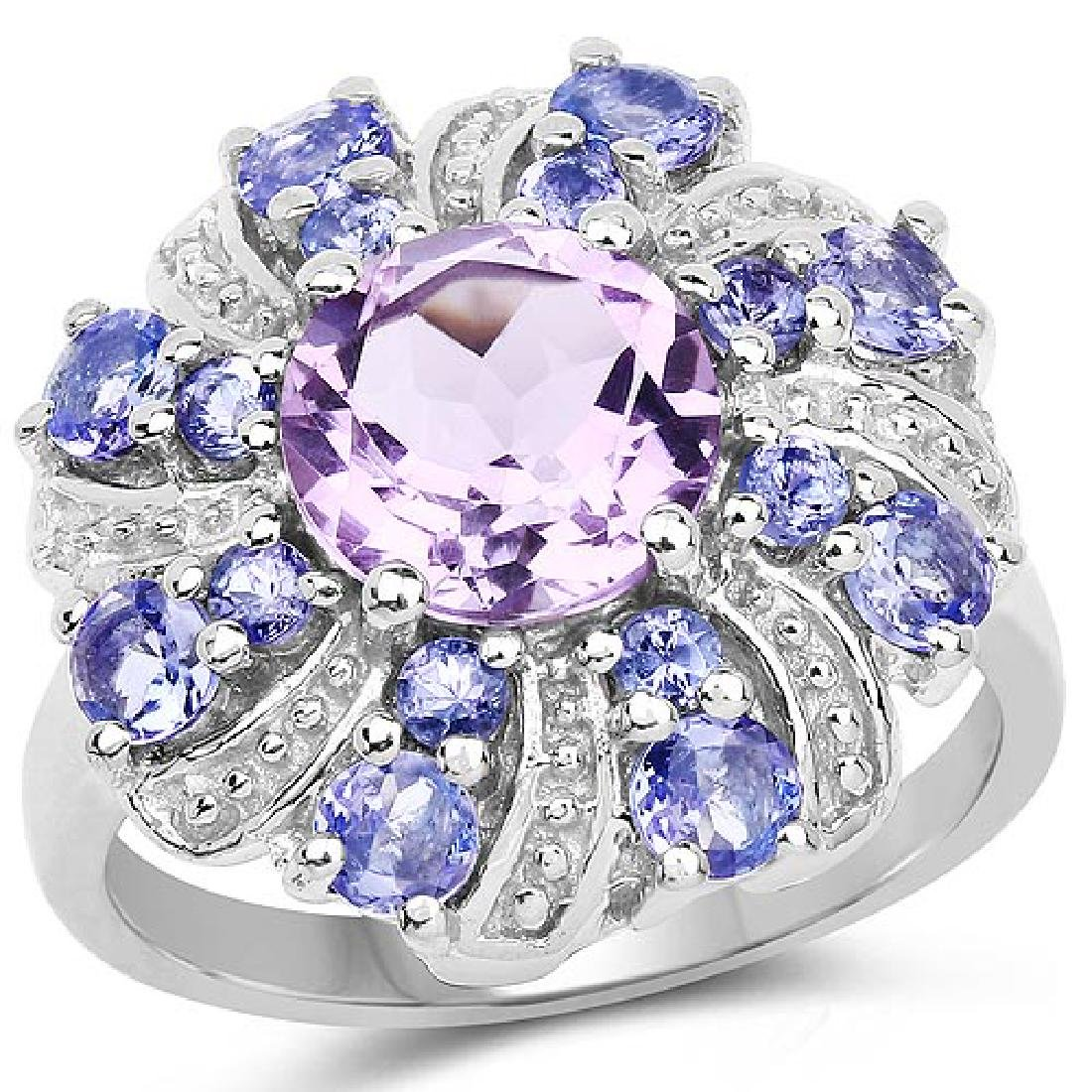 2.88 Carat Genuine Amethyst and Tanzanite .925 Sterling