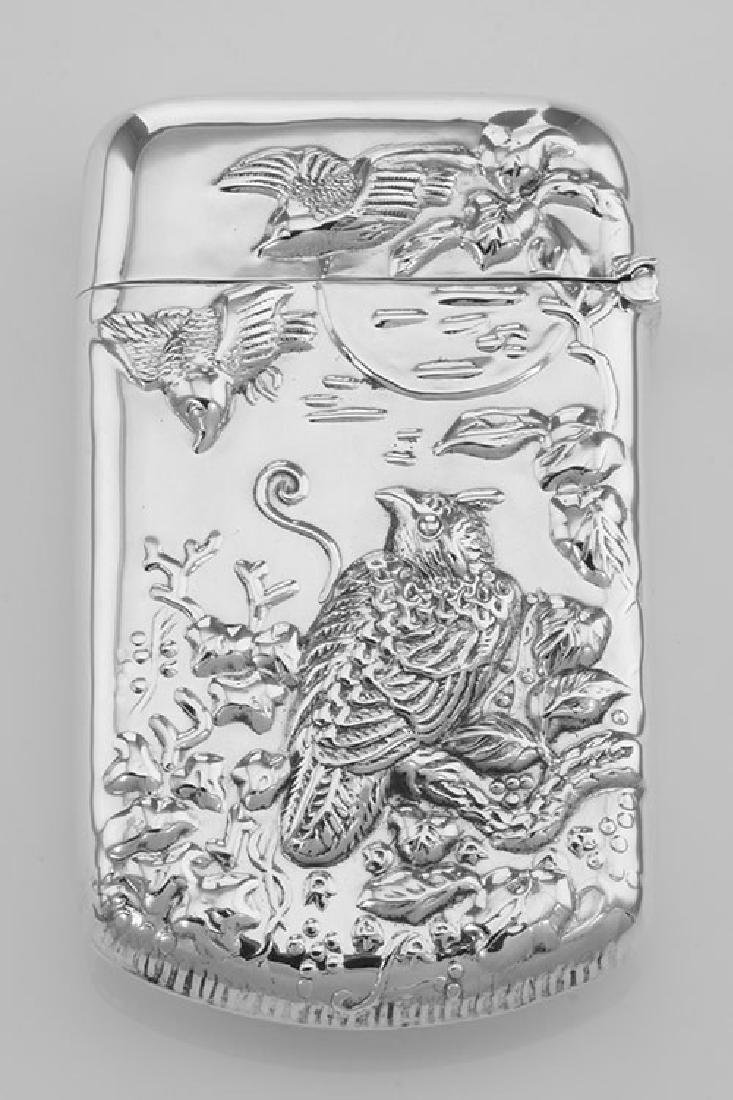 Repousse Wildlife Birds Match Safe Holder Vesta Case - - 2