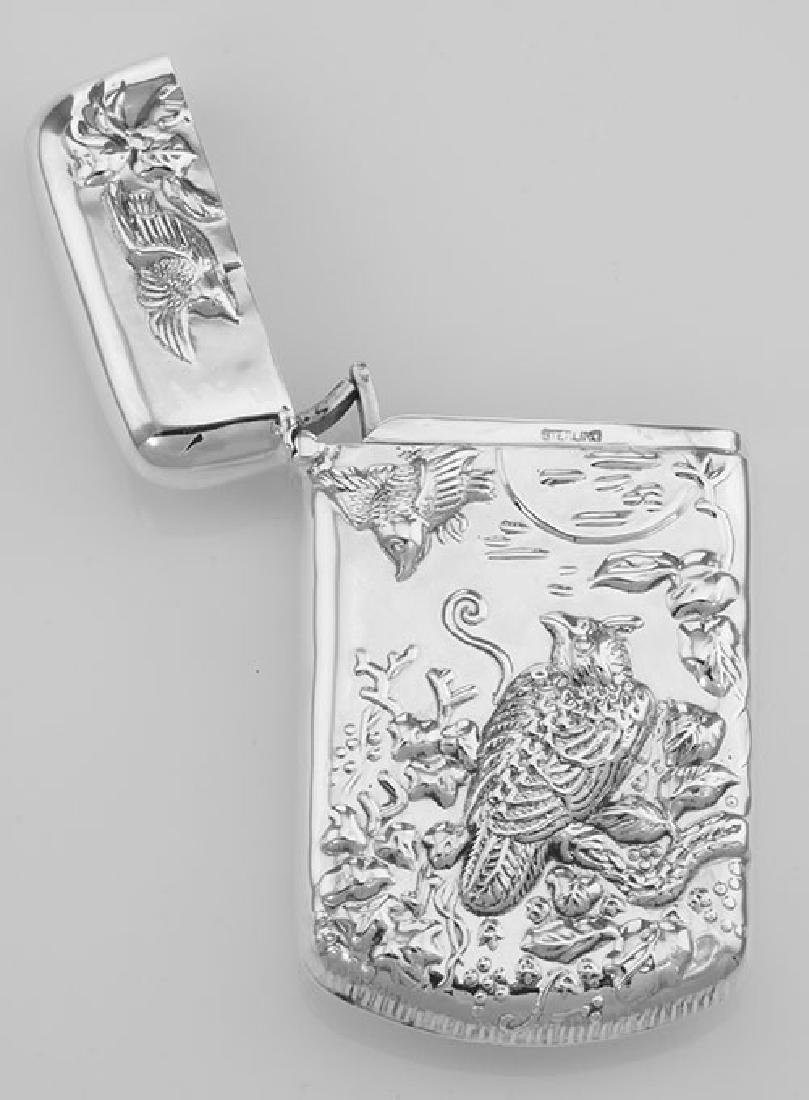 Repousse Wildlife Birds Match Safe Holder Vesta Case - - 3
