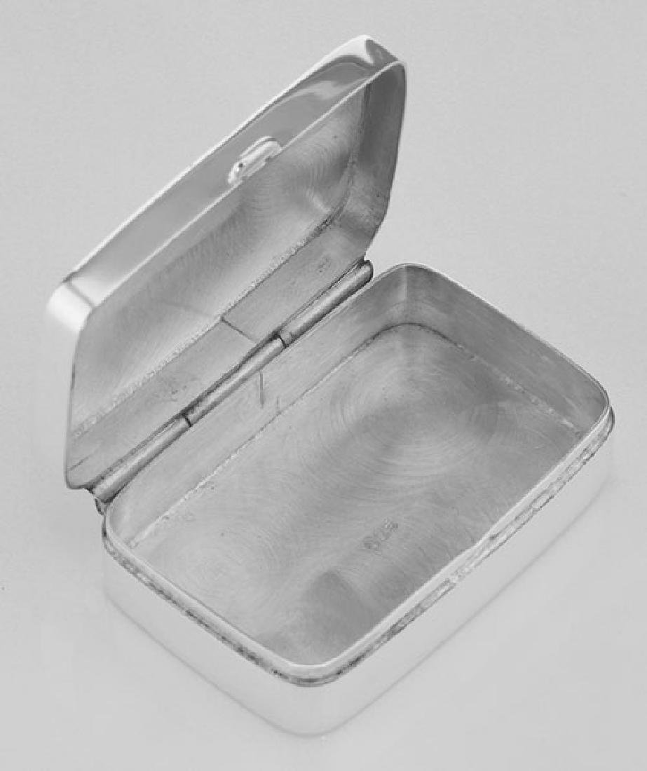 Sterling Silver Pillbox with Etched Design - 2