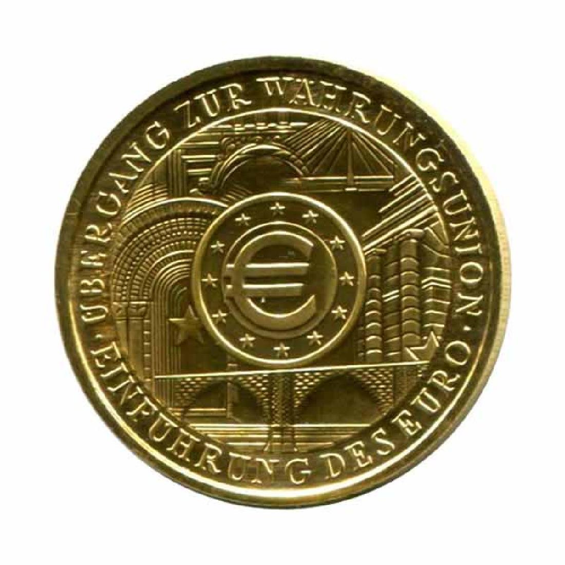 Germany 100 euro gold PF 2002 Intruduction of the Euro