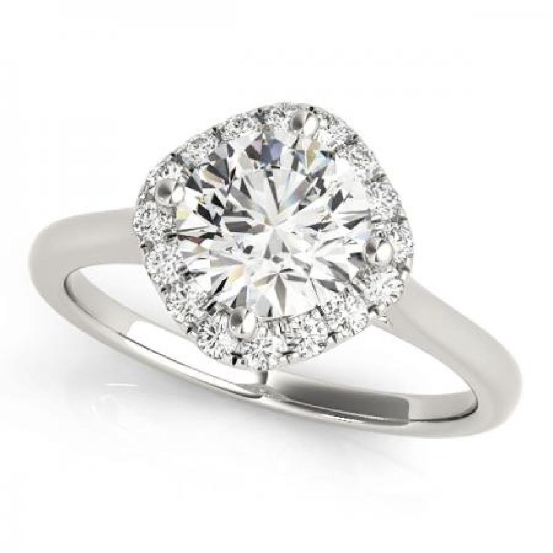CERTIFIED PLATINUM 1.16 CT G-H/VS-SI1 DIAMOND HALO ENGA