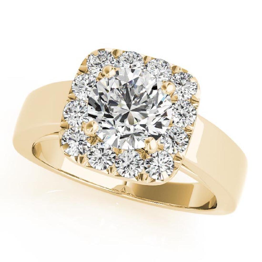 CERTIFIED 18K YELLOW GOLD 1.08 CT G-H/VS-SI1 DIAMOND HA