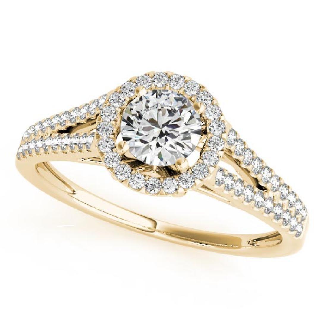 CERTIFIED 18K YELLOW GOLD 1.11 CT G-H/VS-SI1 DIAMOND HA