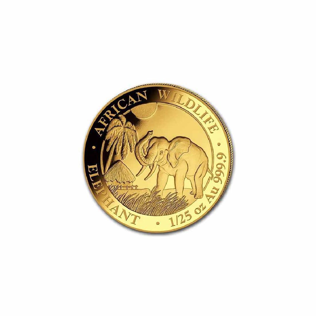 Somalia 2017 Gold Elephant 1/25 ounce
