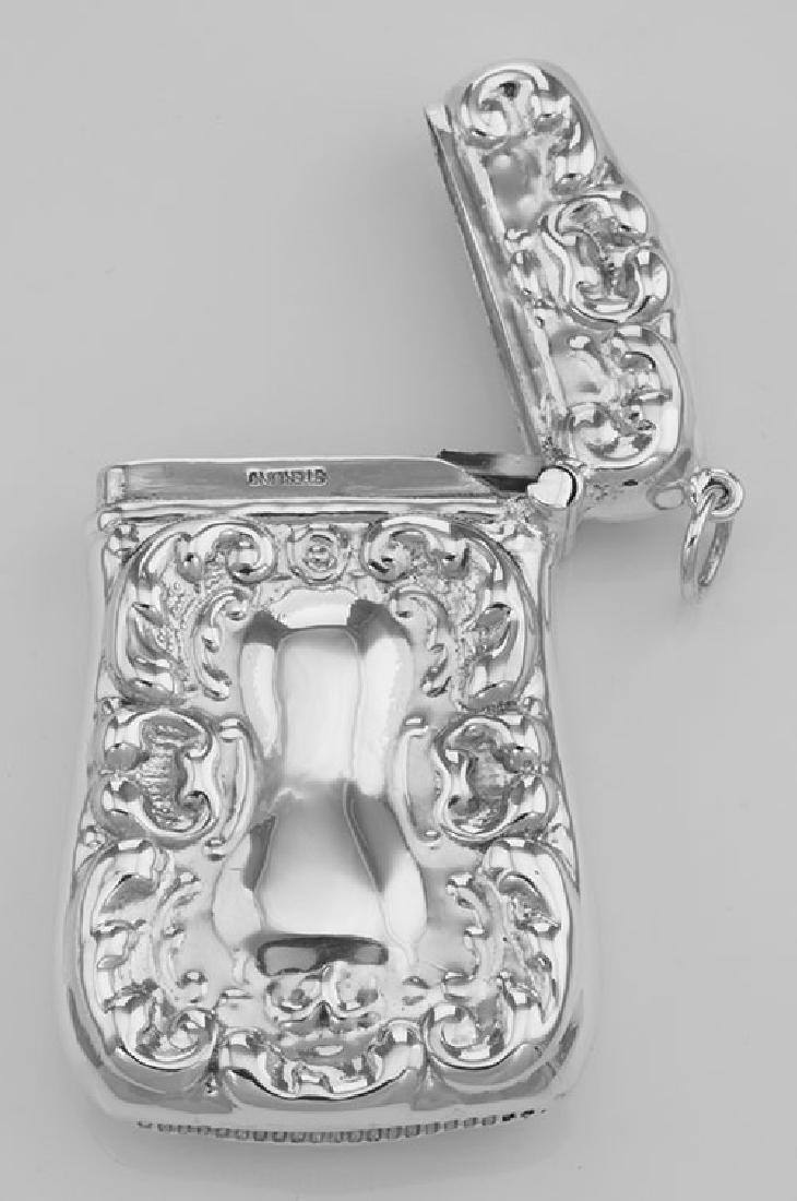 Art Nouveau Style Repousse Match Safe Holder Case in Fi - 3