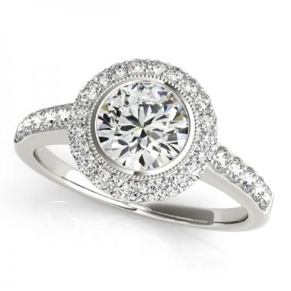CERTIFIED PLATINUM 1.11 CT G-H/VS-SI1 DIAMOND HALO ENGA