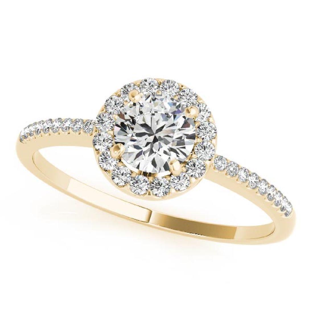 CERTIFIED 18K YELLOW GOLD 1.10 CT G-H/VS-SI1 DIAMOND HA