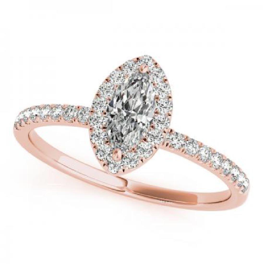 CERTIFIED 14KT ROSE GOLD 1.47 CT G-H/VS-SI1 DIAMOND HAL