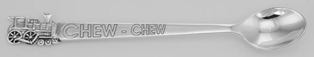 Sterling Silver CHEW CHEW Train Baby Spoon - Feeding