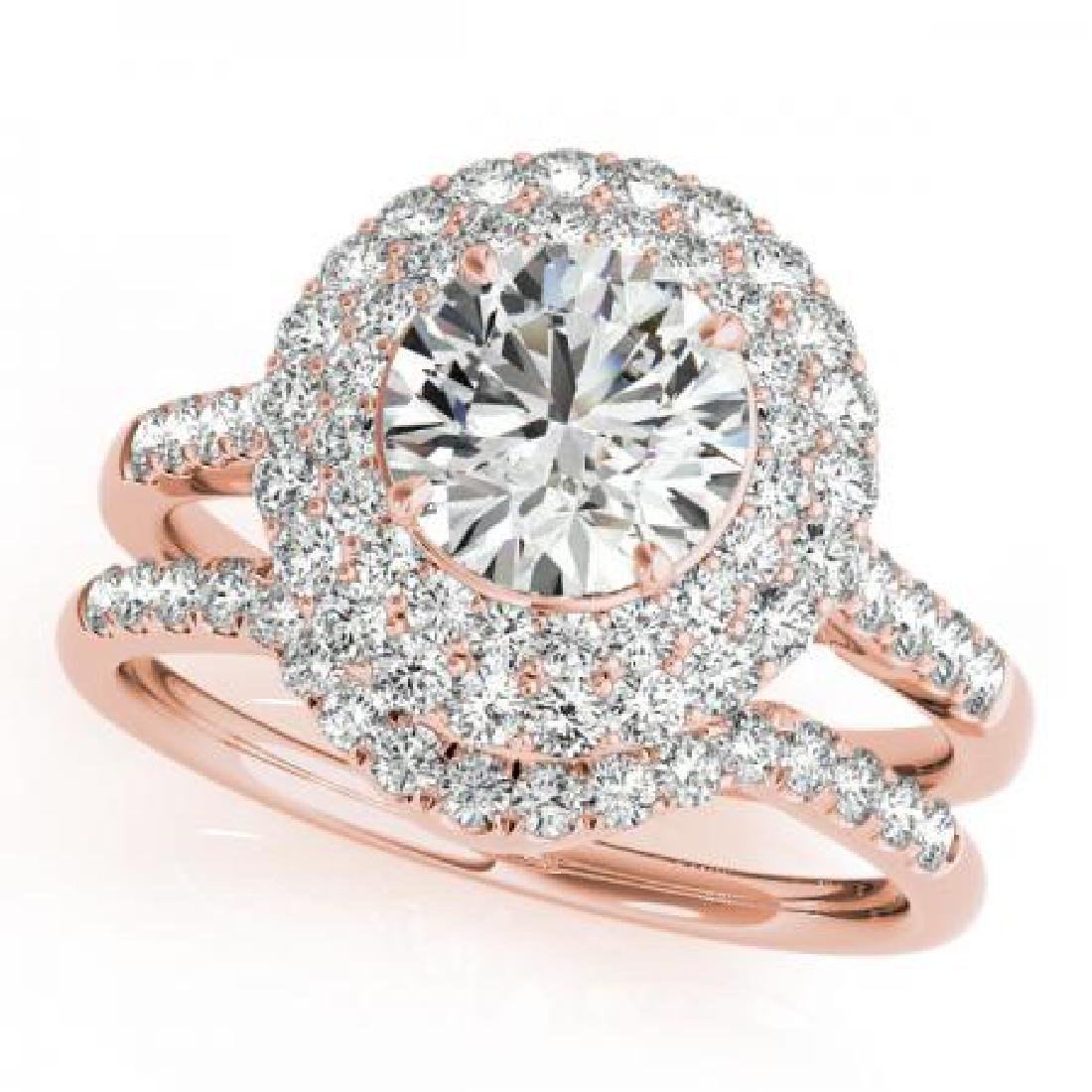 CERTIFIED 14KT ROSE GOLD 1.24 CT G-H/VS-SI1 DIAMOND HAL