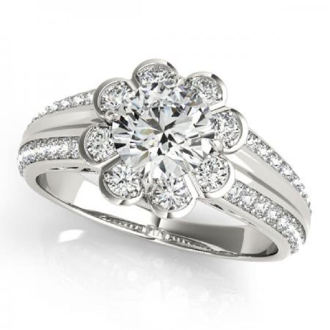 CERTIFIED PLATINUM 1.18 CT G-H/VS-SI1 DIAMOND HALO ENGA