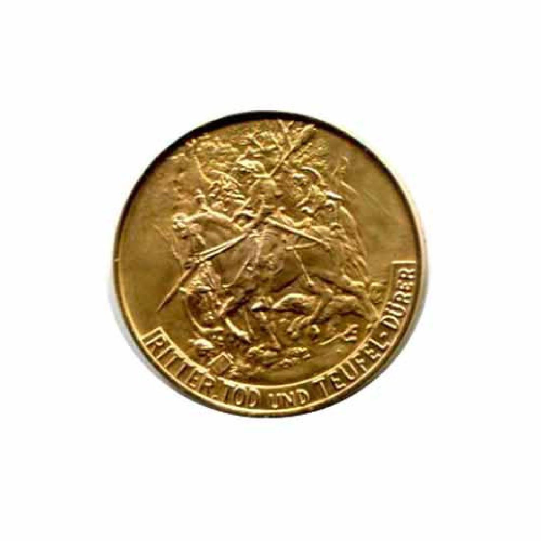 Great Works of the Past gold art medal 6.0 g. Knight D