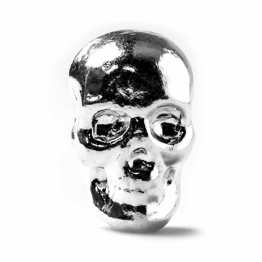 1 oz Atlantis Mint Hand Poured .999 Silver Skull