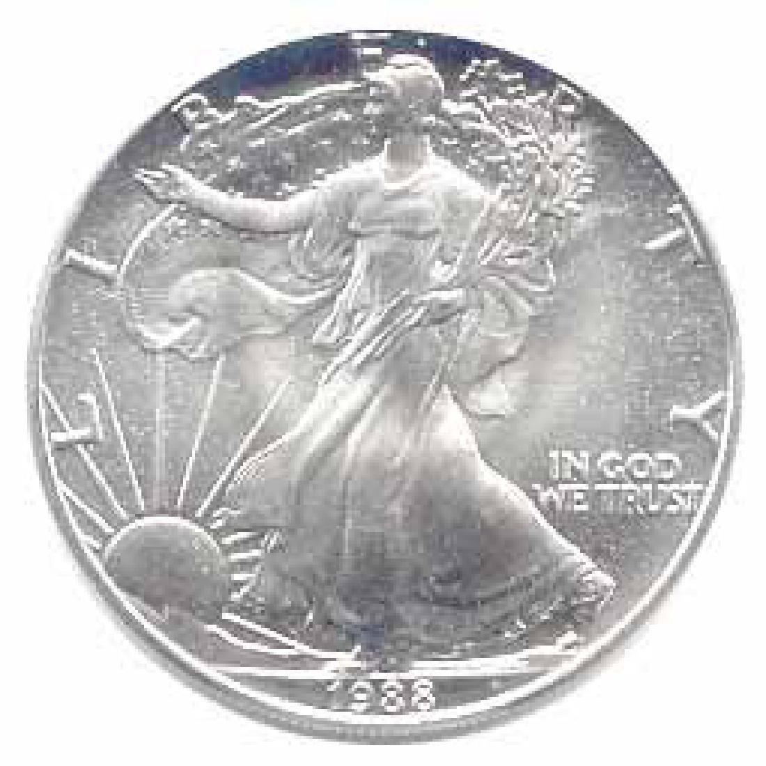 1988 1 oz Silver American Eagle BU