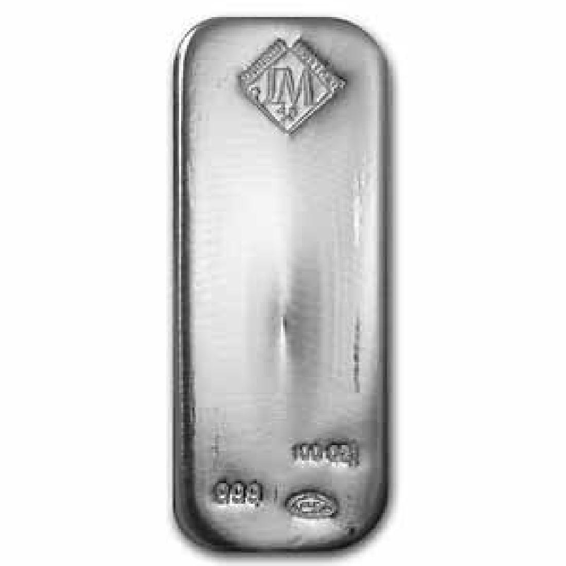 Johnson Matthey Silver Bar 100 oz