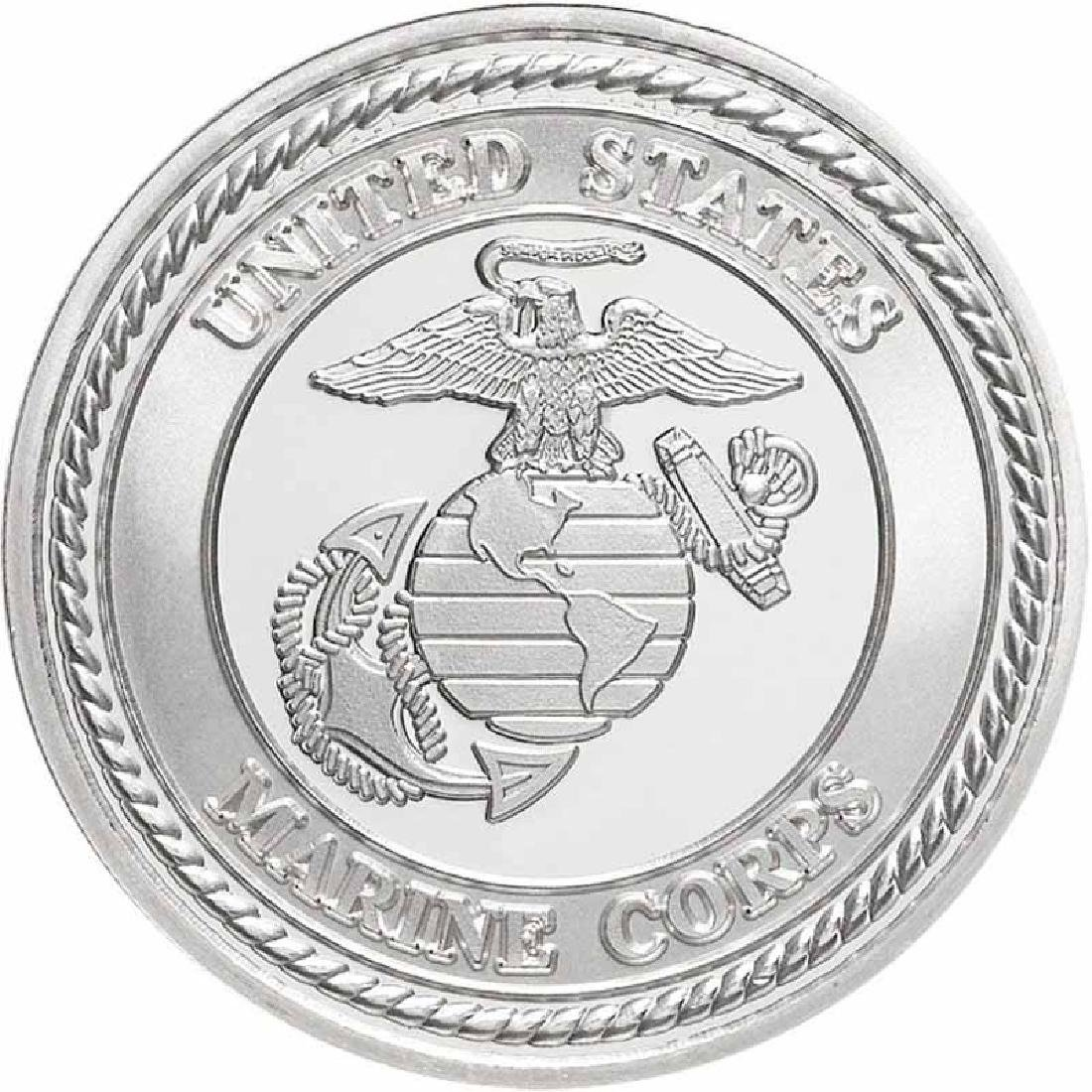 US Marines .999 Silver 1 oz Round