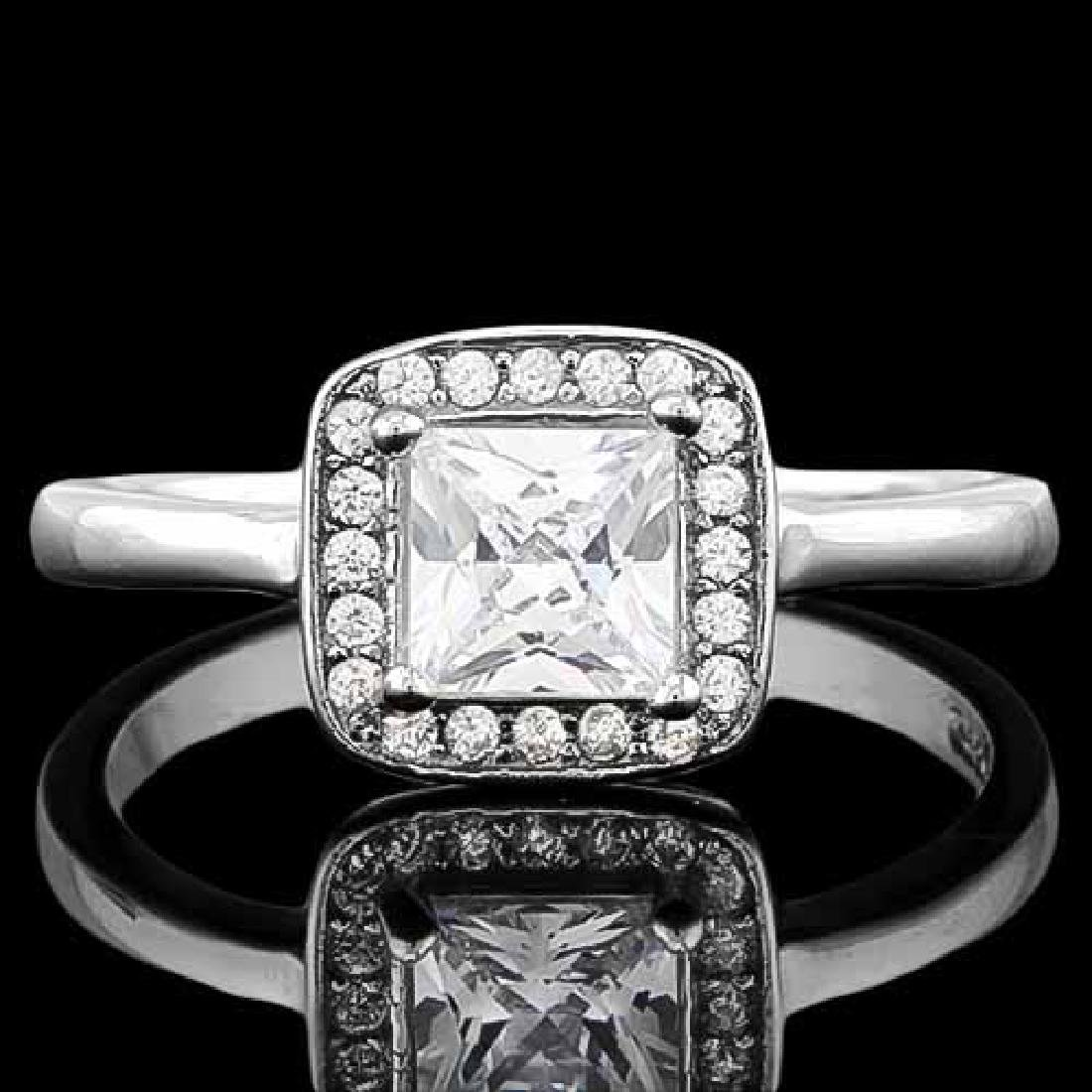 1 2/3 CARAT (21 PCS) FLAWLESS CREATED DIAMOND 925 STERL