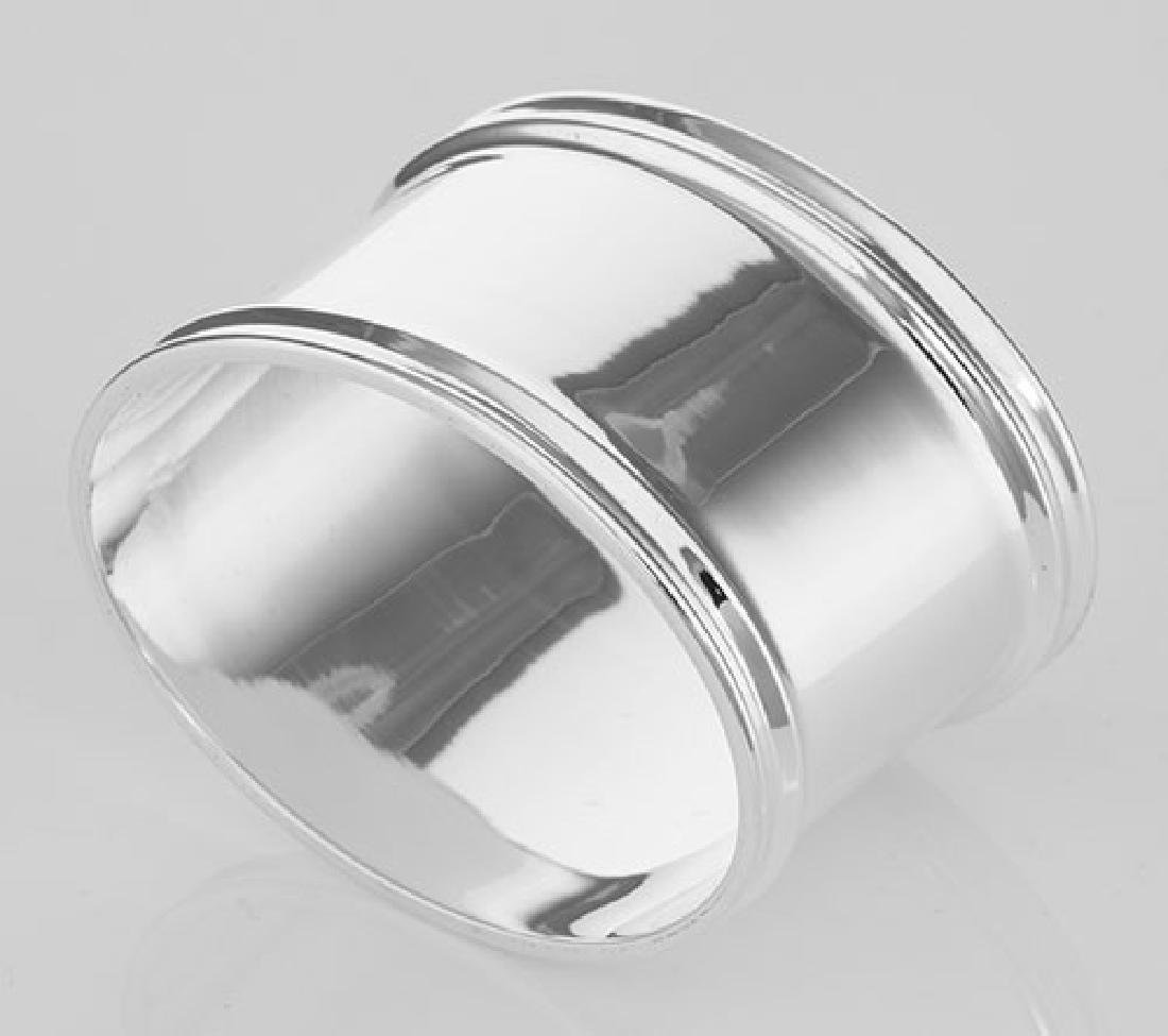 Sterling Silver Napkin Ring - Oval - Made in Italy - 2