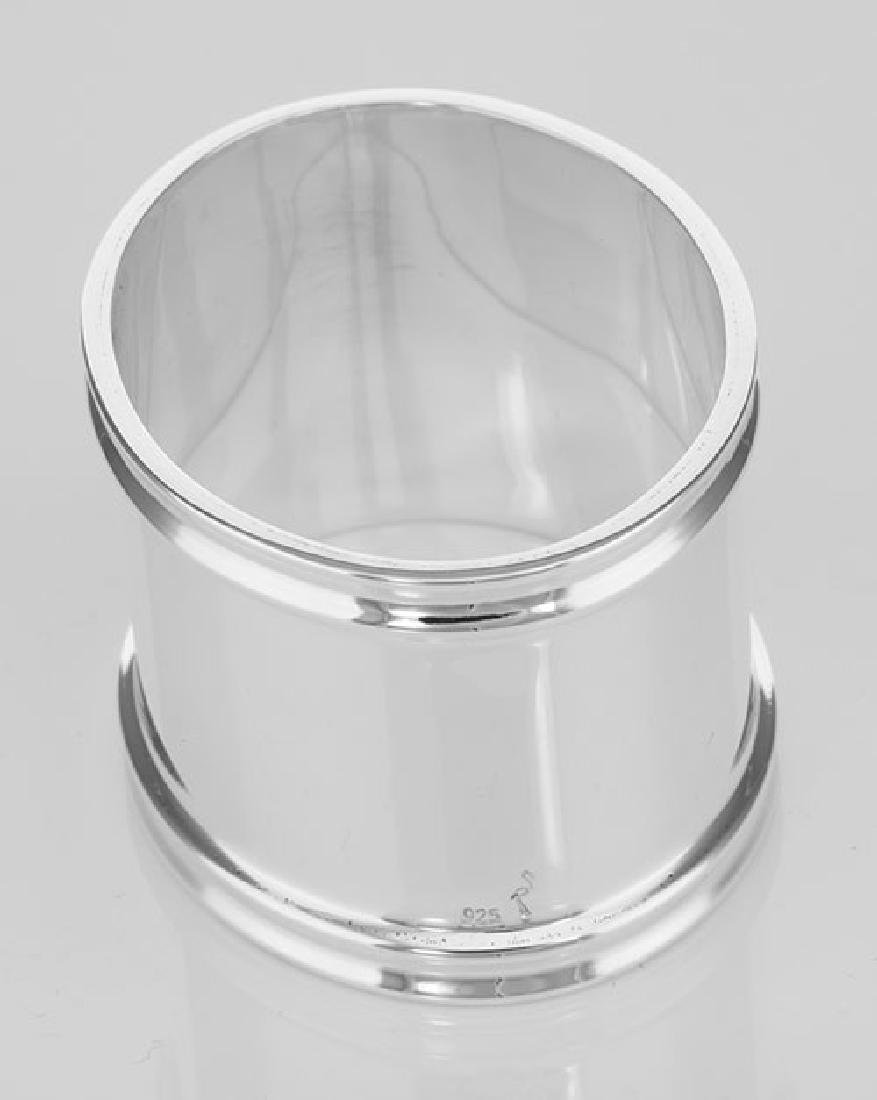 Sterling Silver Napkin Ring - Oval - Made in Italy - 3