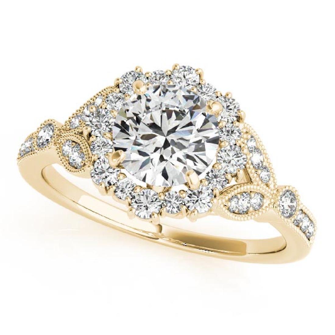 CERTIFIED 18K YELLOW GOLD 1.13 CT G-H/VS-SI1 DIAMOND HA