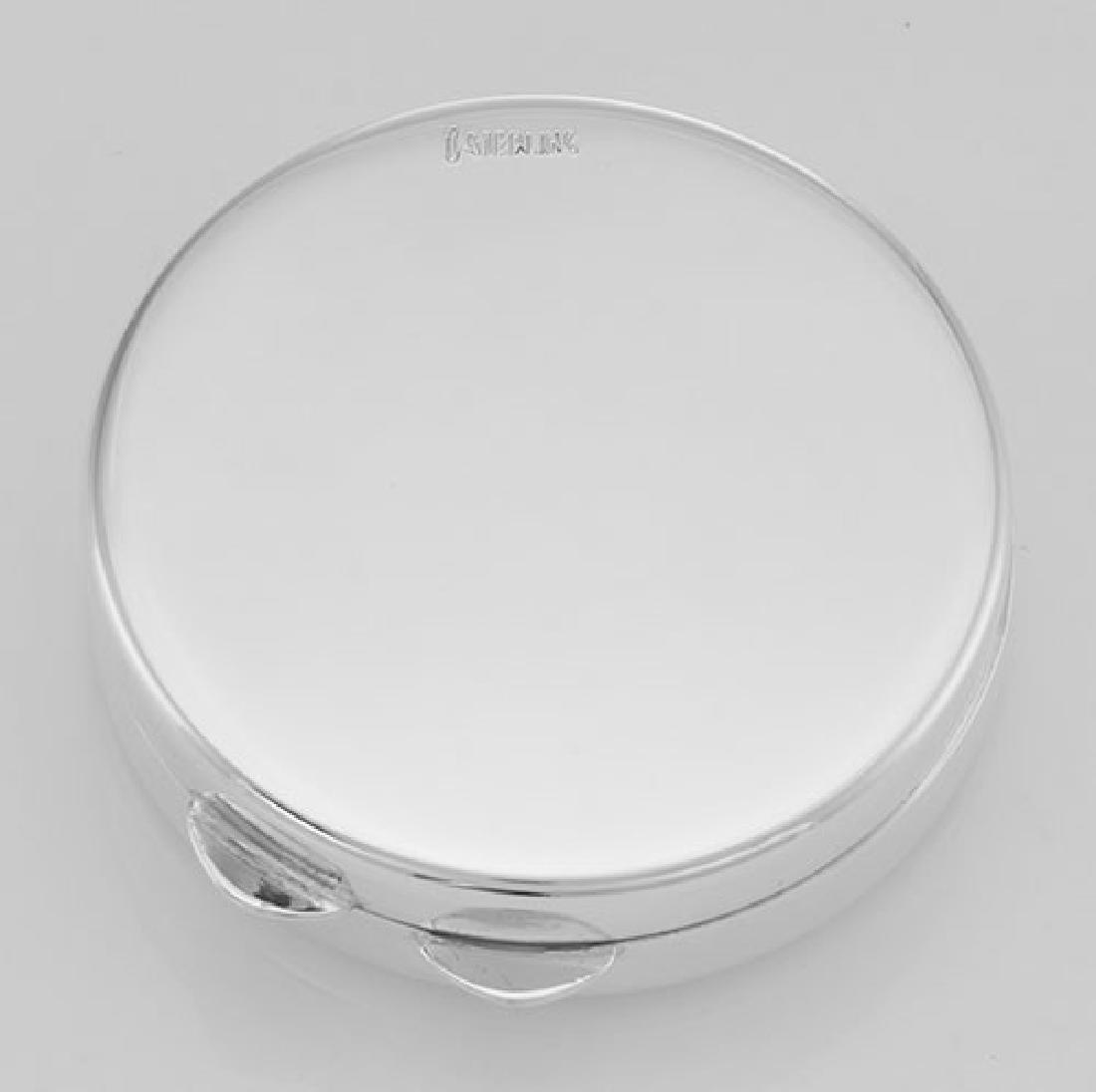 Classic Engravable Sterling Silver Round Engravable Pil - 3