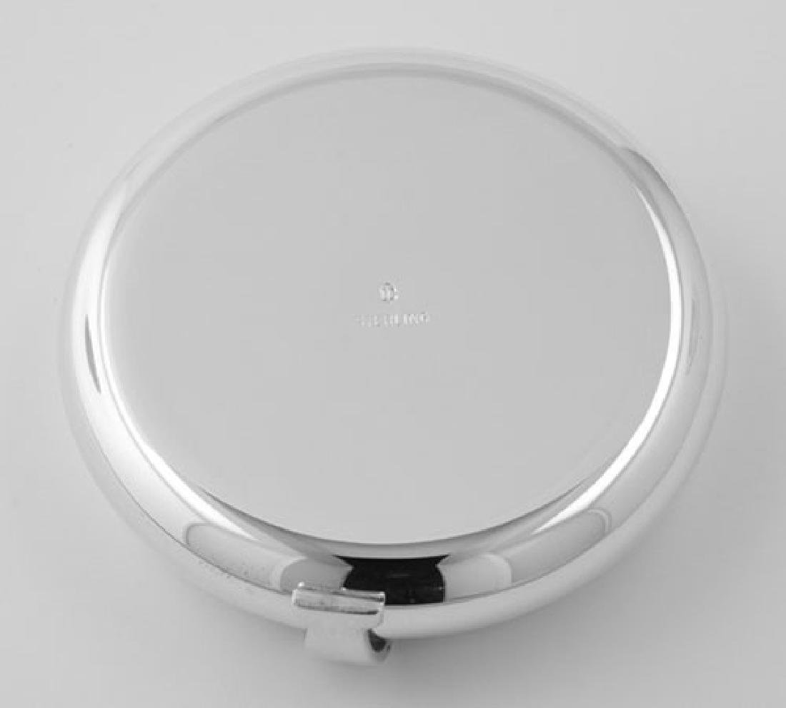 Engravable Sterling Round Flip Top Pillbox Made in USA - 3