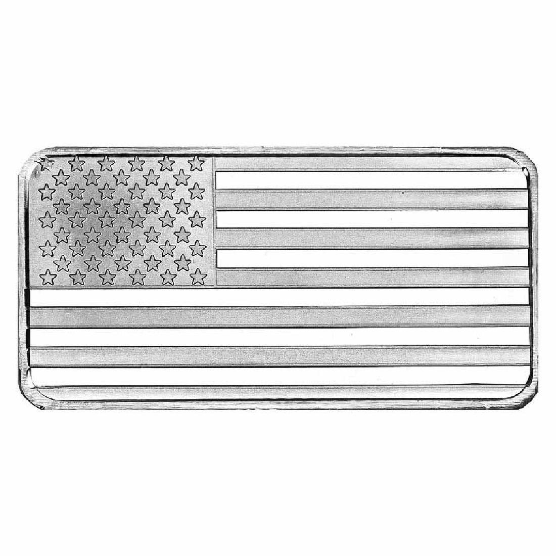 SilverTowne 10 oz Silver Bar - Flag Design