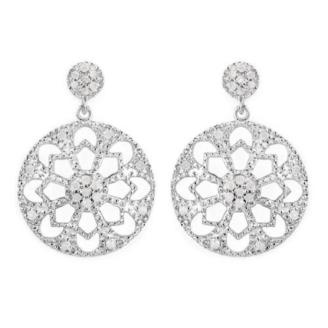 0.60 Carat Genuine White Diamond .925 Sterling Silver E