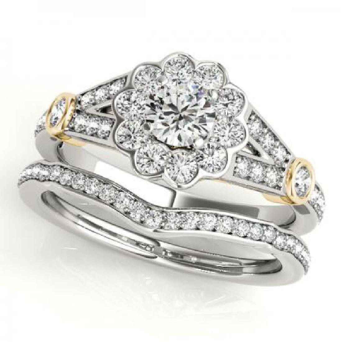 CERTIFIED 18KT TWO TONE GOLD 1.12 CT G-H/VS-SI1 DIAMOND