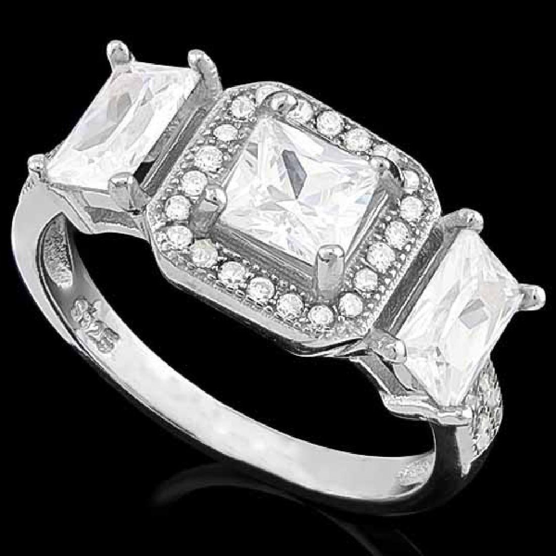 6 4/5 CARAT (43 PCS) FLAWLESS CREATED DIAMOND 925 STERL