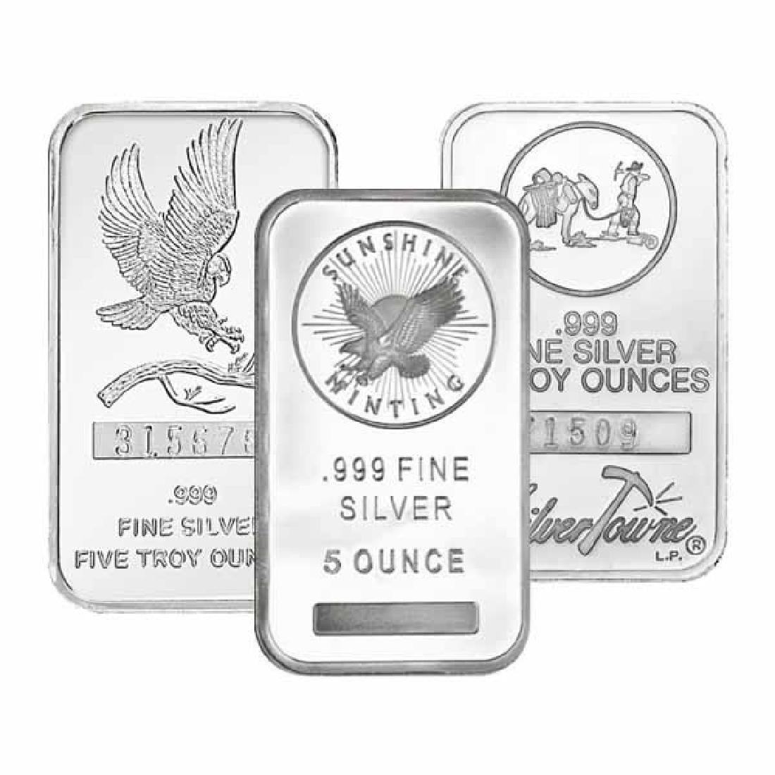 Random Manufacturer Silver Bar 5 oz