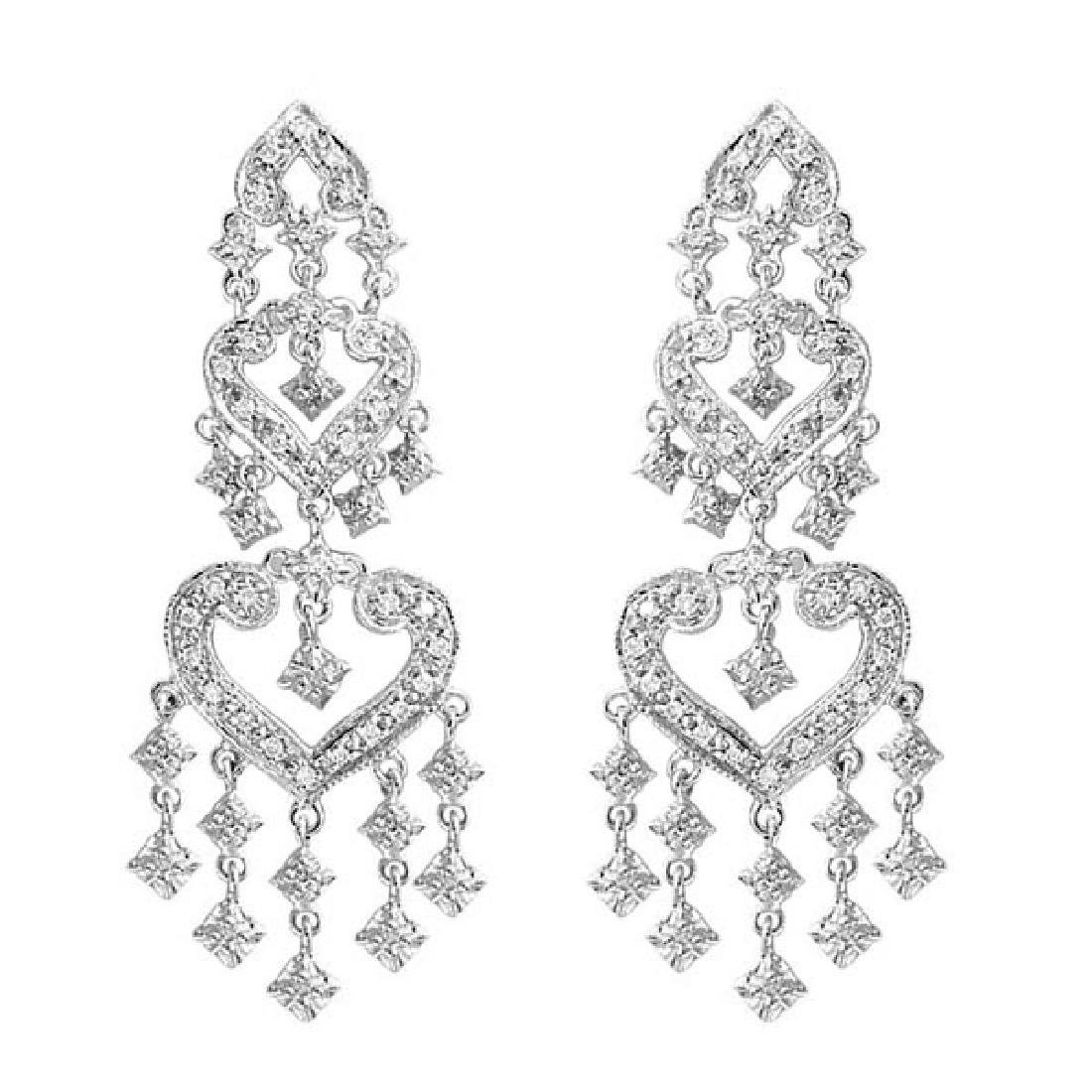 Diamond Chandelier Earrings in 14k White Gold (1.01ctw)