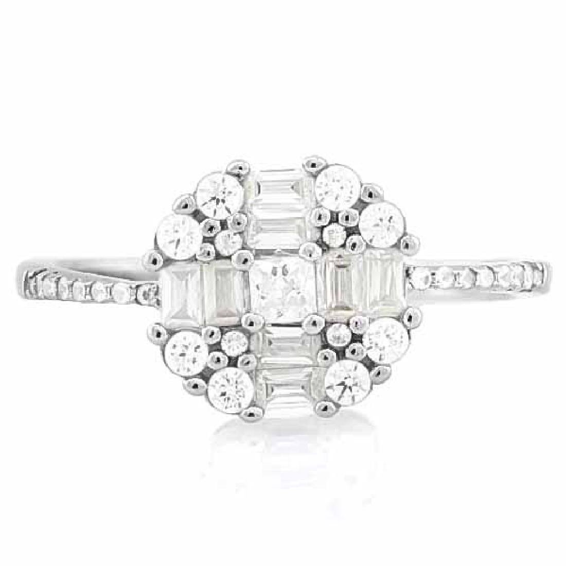 1 4/5 CARAT (25 PCS) FLAWLESS CREATED DIAMOND 925 STERL
