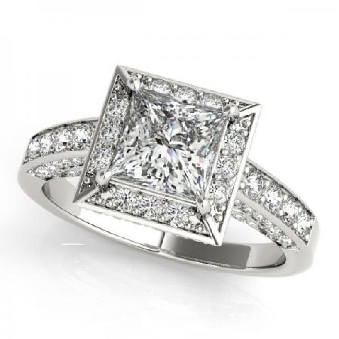 CERTIFIED 18KT WHITE GOLD 1.25 CT G-H/VS-SI1 DIAMOND HA