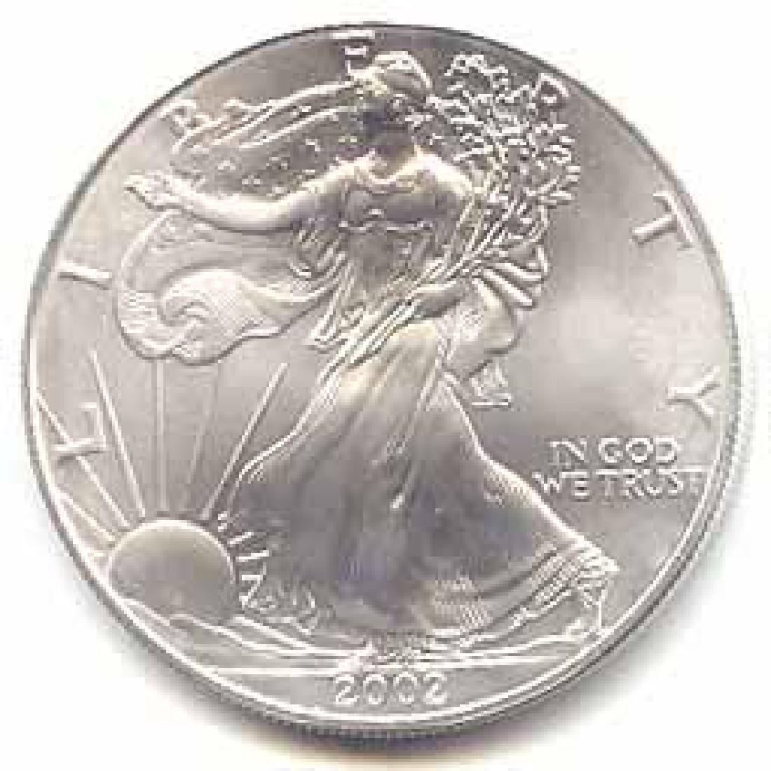 2002 1 oz Silver American Eagle BU