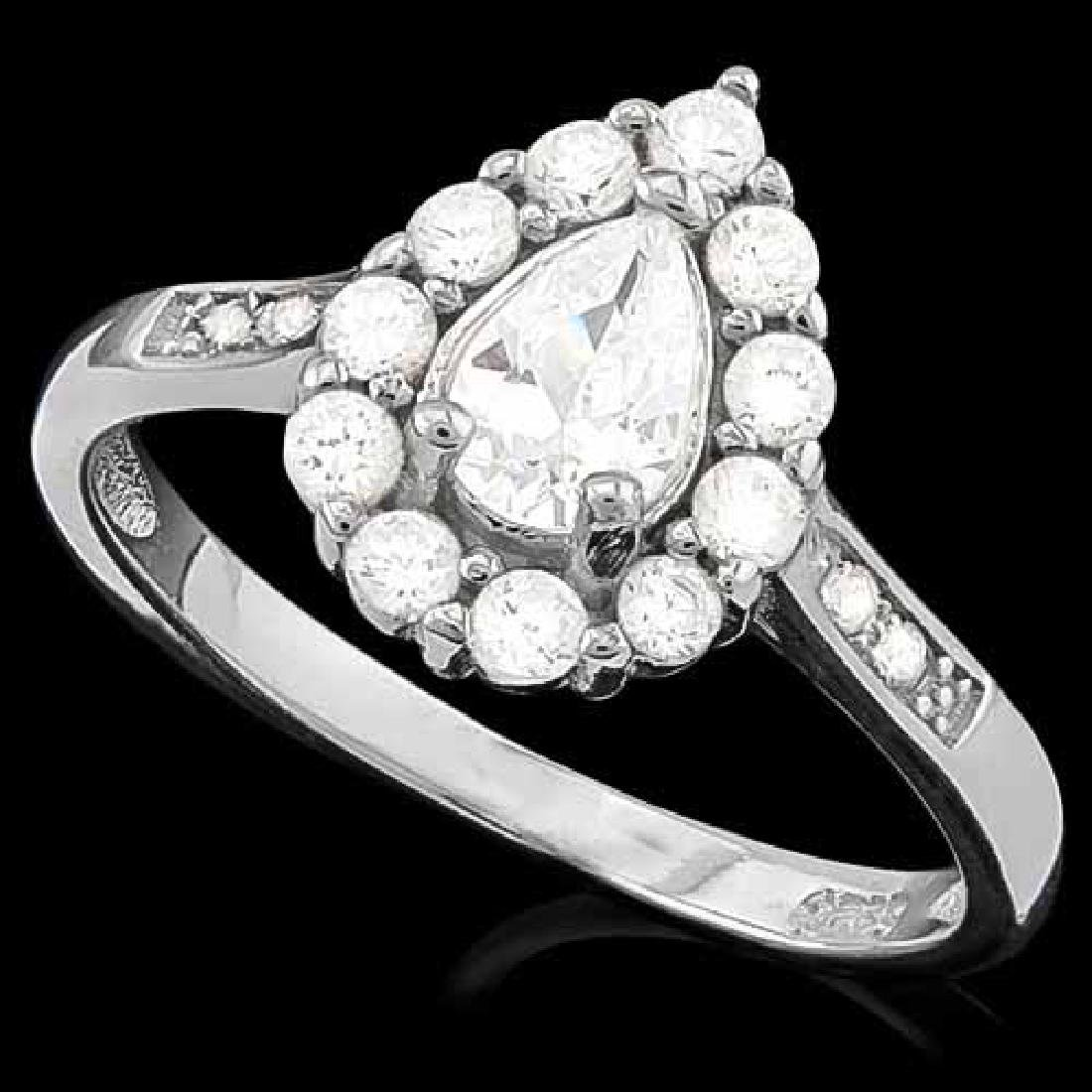 2 CARAT (17 PCS) FLAWLESS CREATED DIAMOND 925 STERLING
