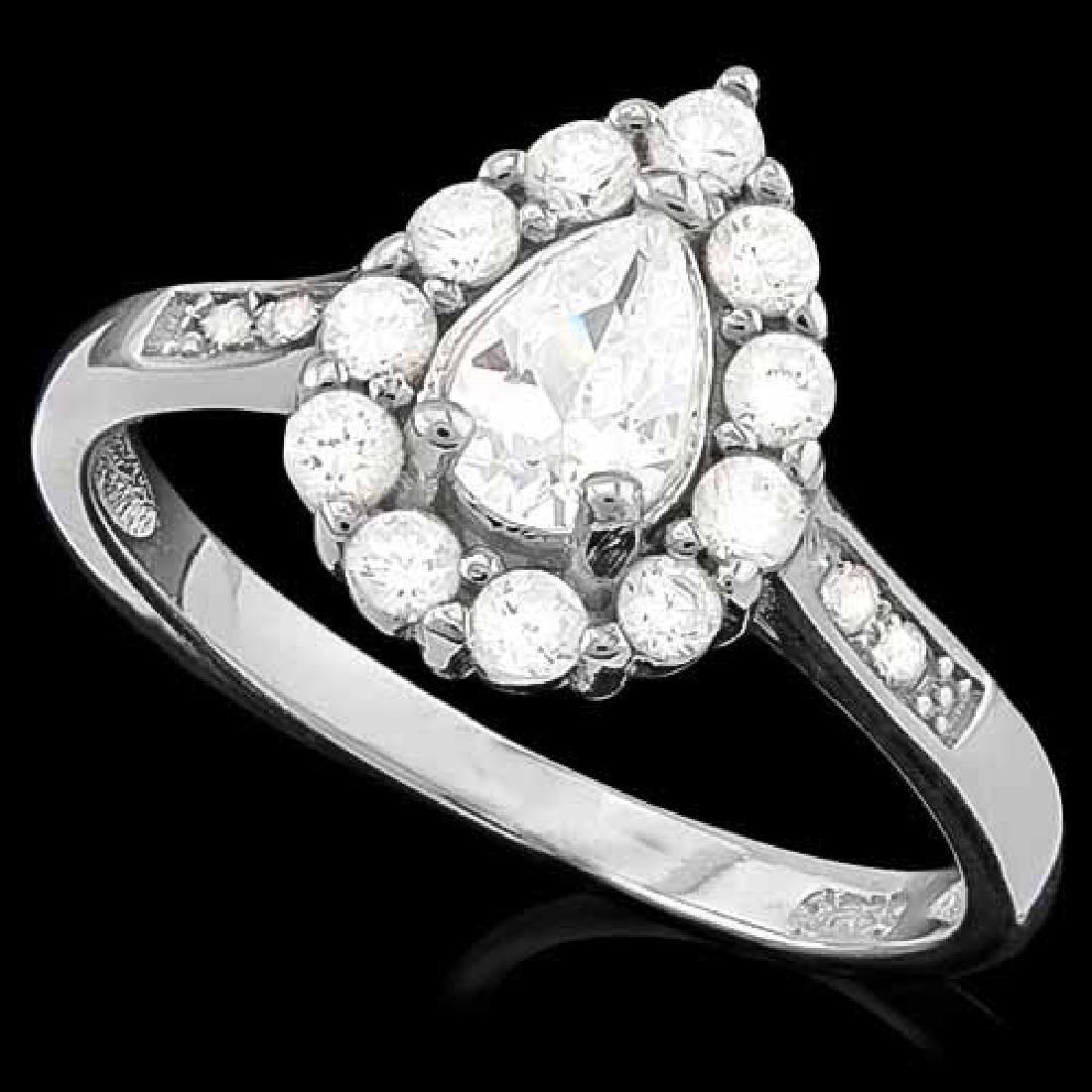 2 CARAT (17 PCS) FLAWLESS CREATED DIAMOND 925 STERLING