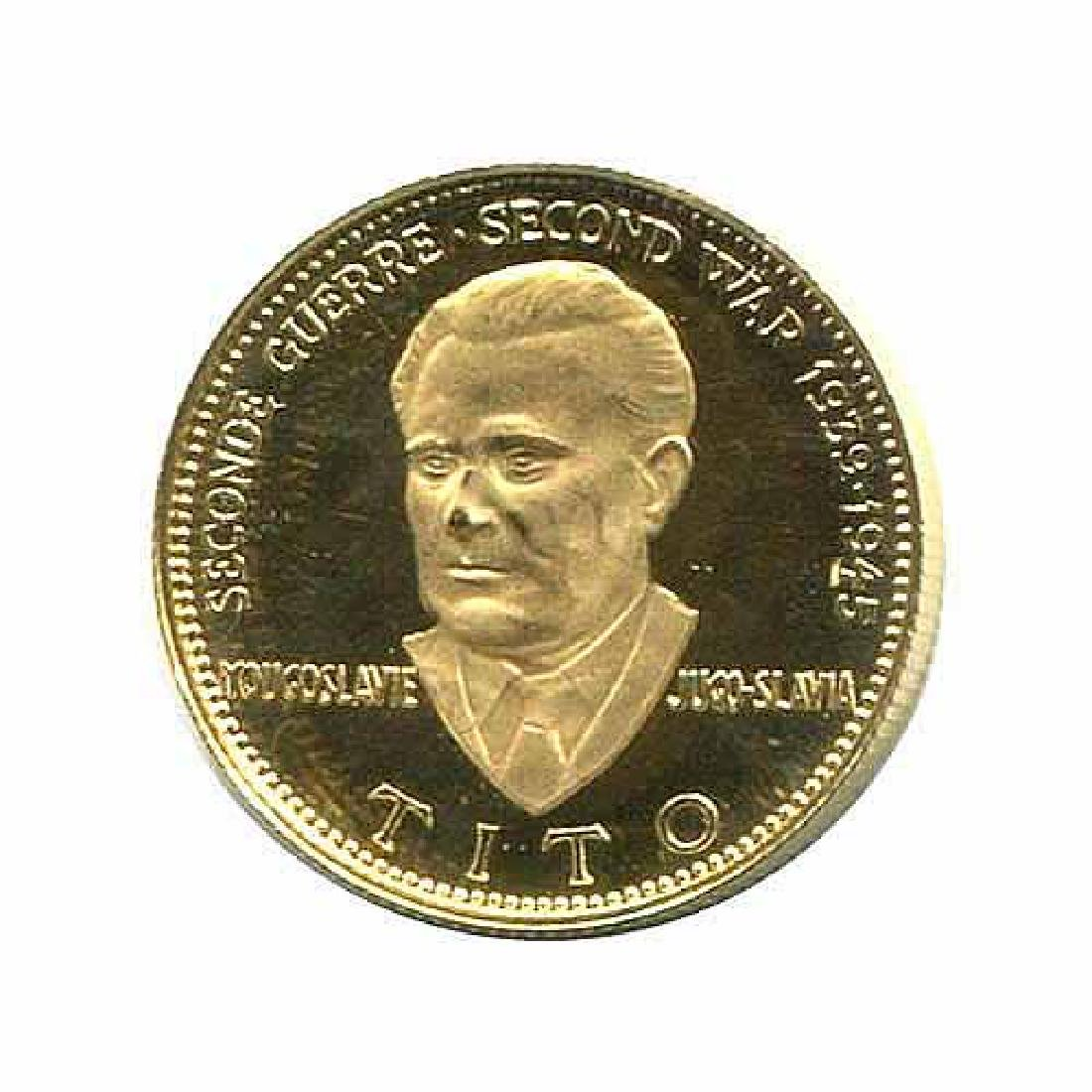 WWII Commemorative Proof Gold Medal 7g. 1958 Tito