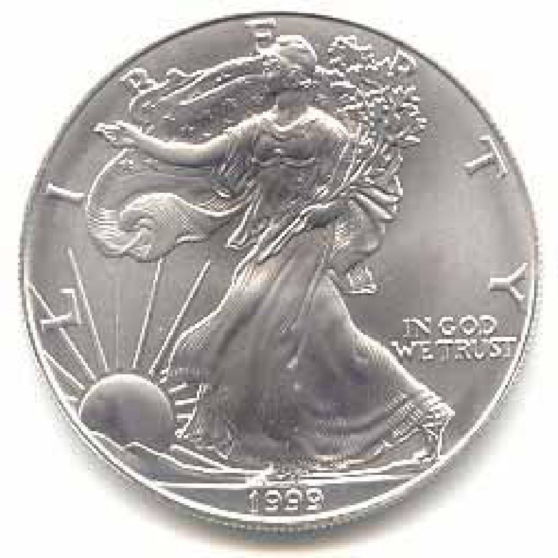 1999 1 oz Silver American Eagle BU