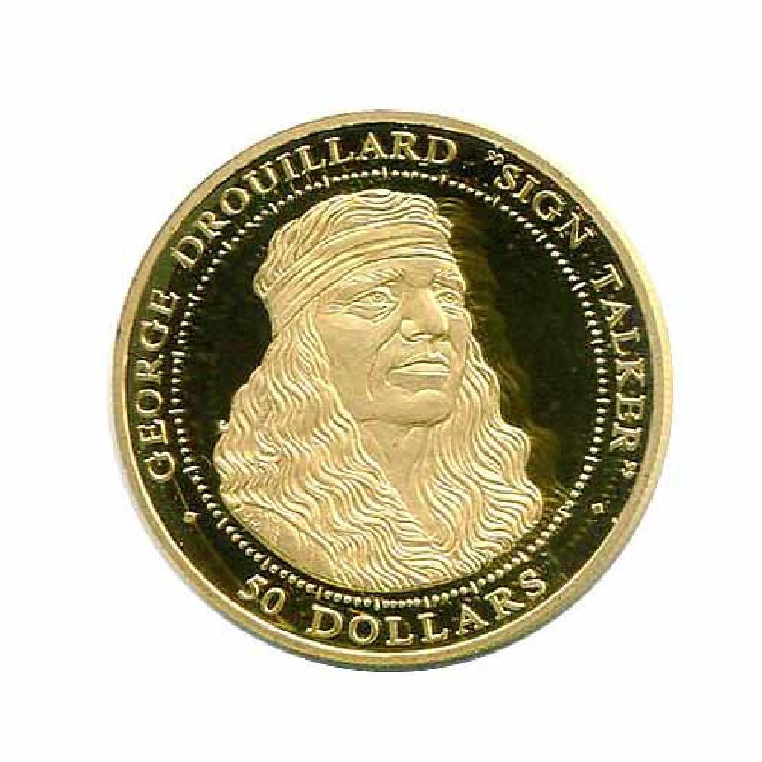 Shawnee Nation $50 Gold PF 2003 George Drouillard