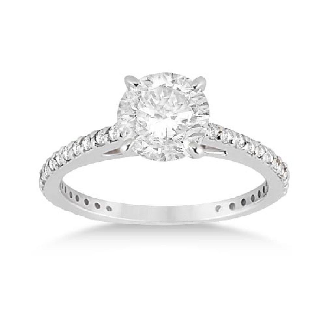 Petite Eternity Diamond Engagement Ring Platinum (1.55c