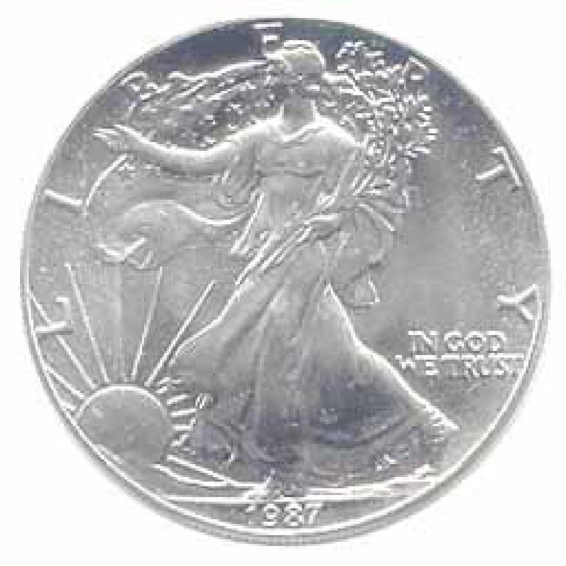 1987 1 oz Silver American Eagle BU