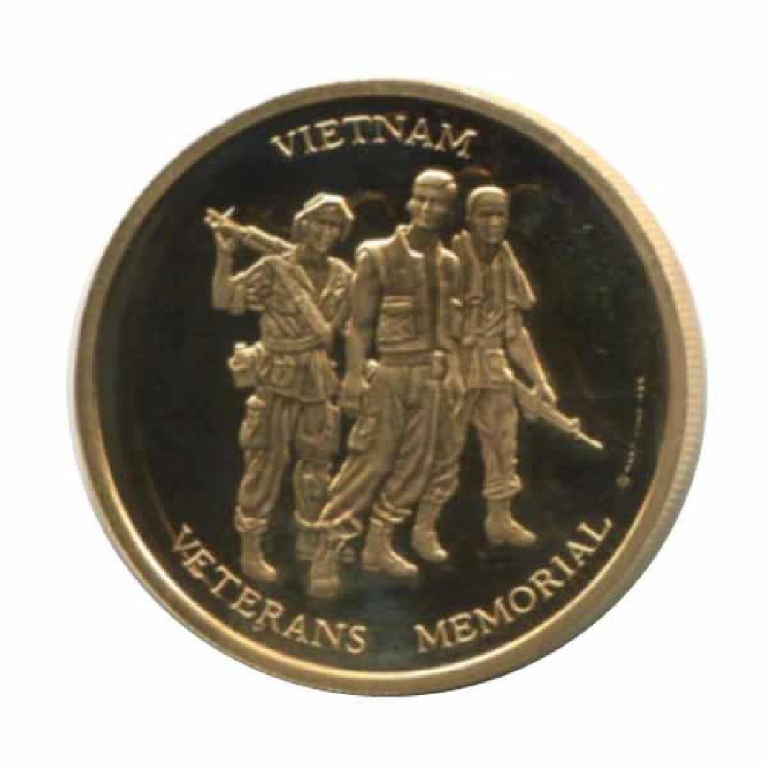 Vietnam Veterans Memorial 1/2 oz. gold PF Medal 1984
