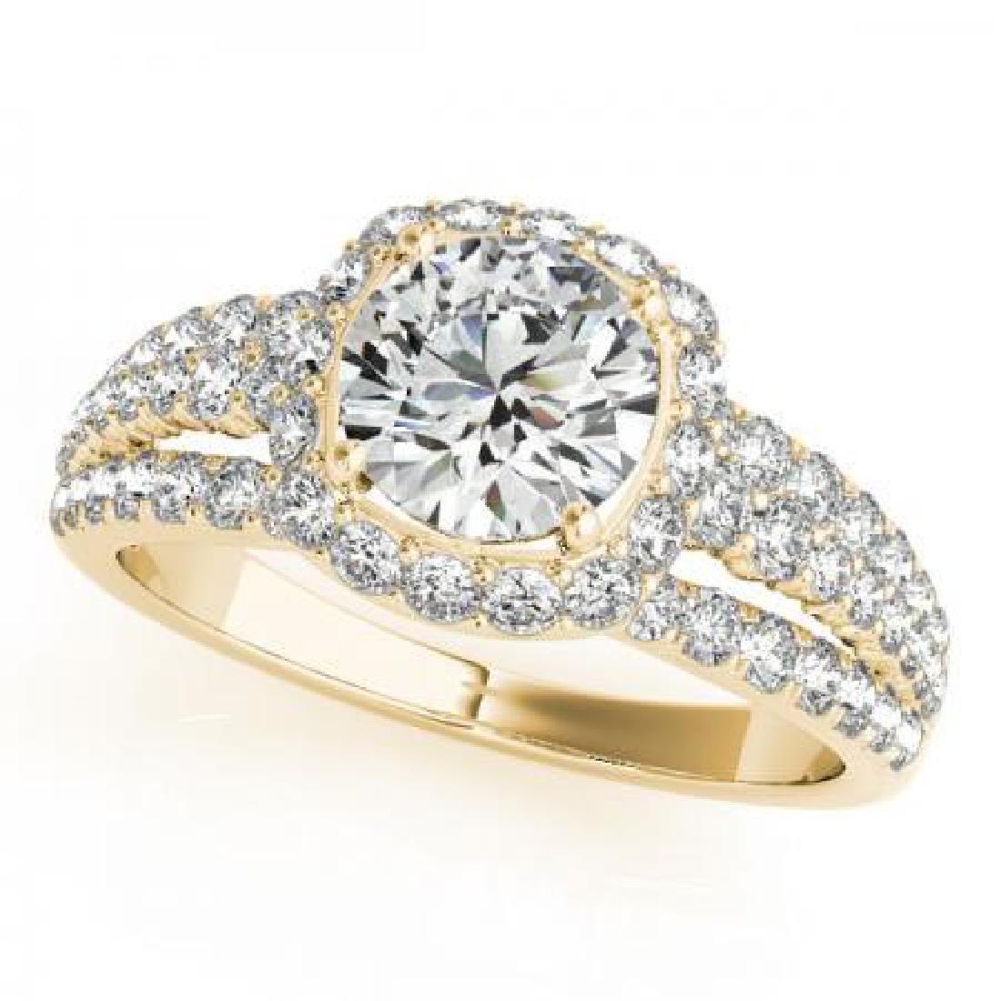 CERTIFIED 18K YELLOW GOLD 1.37 CT G-H/VS-SI1 DIAMOND HA