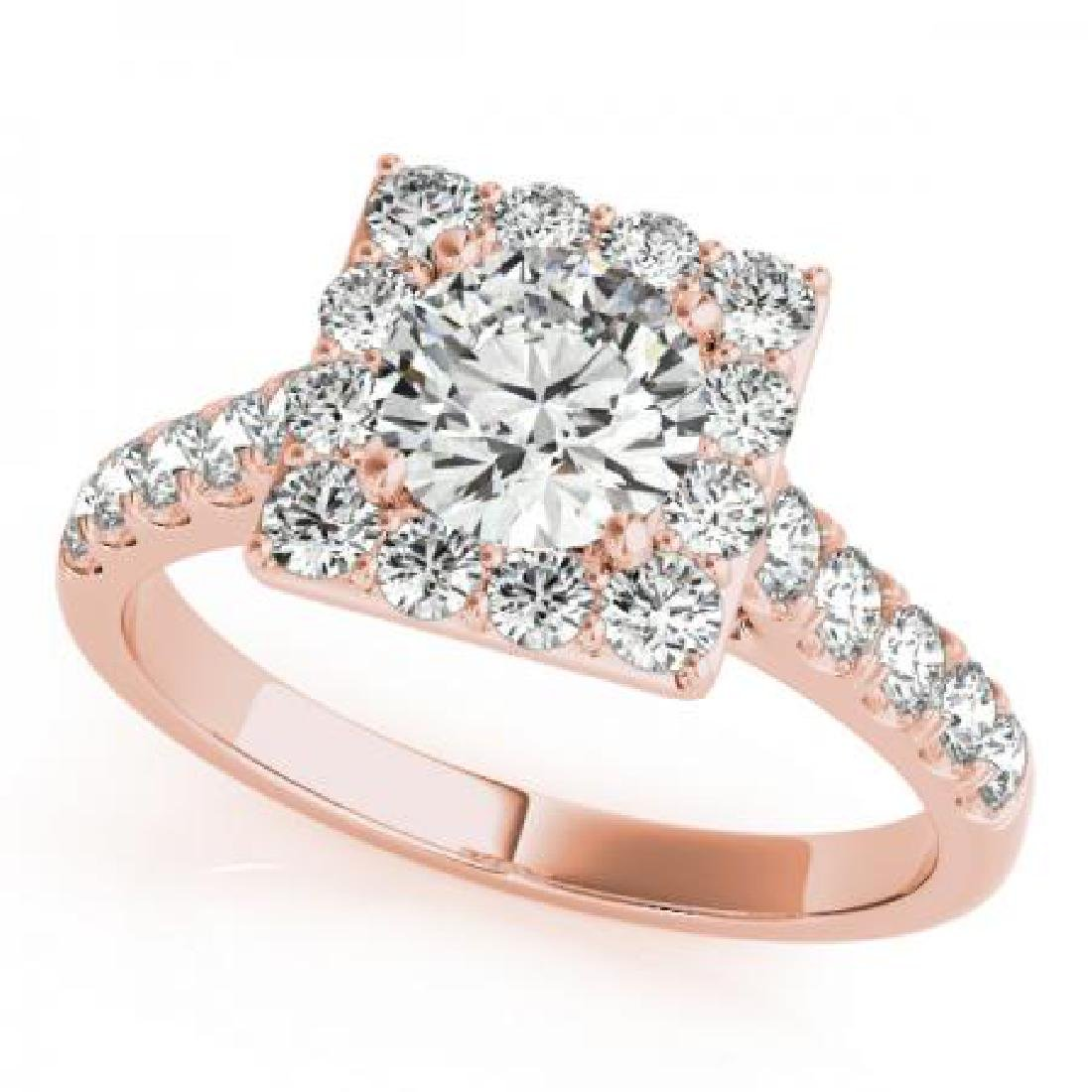 CERTIFIED 14KT ROSE GOLD 1.65 CT G-H/VS-SI1 DIAMOND HAL