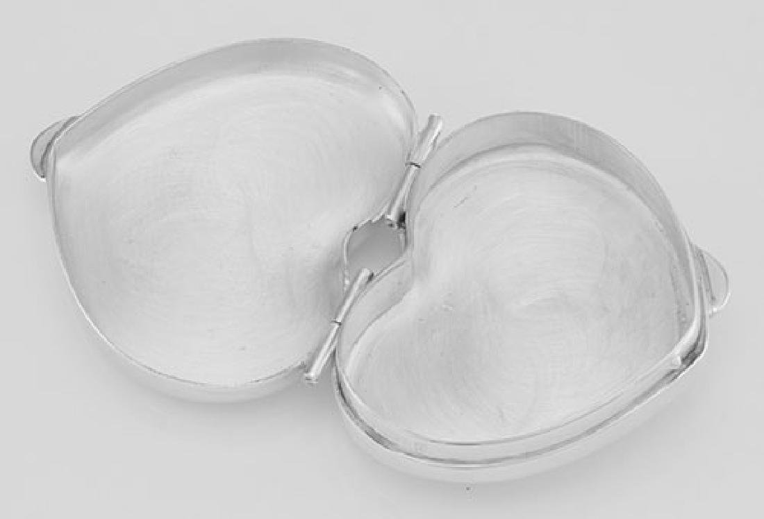 Classic Sterling Silver Heart Pillbox Engraveable - Mad - 2