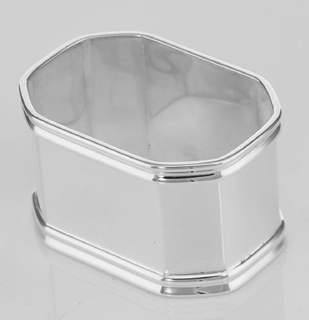 Sterling Silver Napkin Ring - Octagonal - Made in Italy